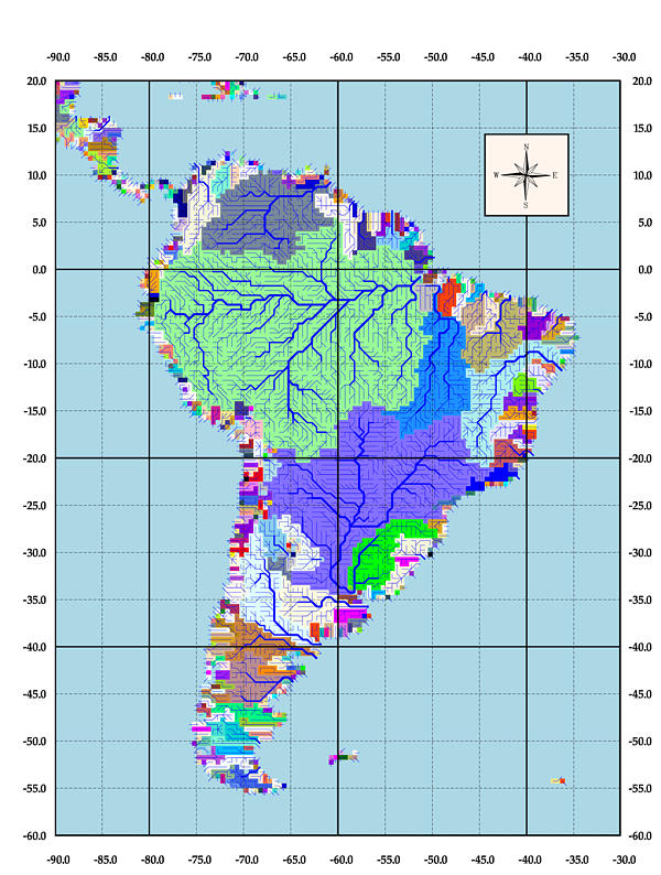 South American Drainage Basins - Us drainage basins map